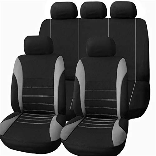 QXCOM Auto cubierta de asiento de coche de fibra de lino cubierta para BMW 5 Series E39 E60 E61 F07