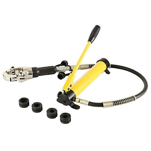 OldFe Pinza Crimpatrice 15-28mm Press Pinza Per Tubi Compositi PEX PE-X PB Tubo di Piegatura Pinza Crinmping Tool Con Calibratori e Piegatura Springs