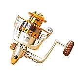 Tienda de Hanks Carrete de Pesca YUMOSHI EF1000 12-Ball Carrete de Pesca, el Cuerpo de Metal y Alisar y de rotación rápida Carrete de Pesca con Izquierda Intercambiables y Asas de Metal adecuadas