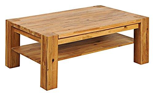 Table basse 120x80cm - Bois massif de Chêne Sauvage huilé - BERLIN #10