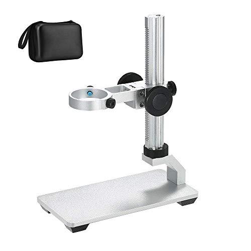 Aluminiumlegierung Ständer für USB Digital Mikroskop Kamera, Bysameyee Universal Einstellbare Mikroskop Metall Ständer Basis Unterstützung Halter Halterung für Max 1,4 Zoll LCD-Bildschirm Mikroskop
