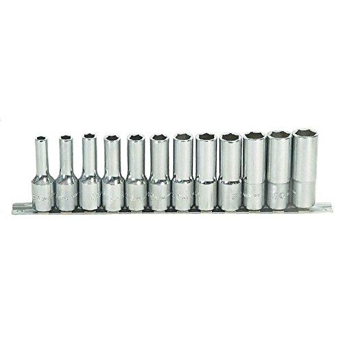 Cle pipe debouchee 15 mm longueur 185 mm chrome vanadium 6 pans