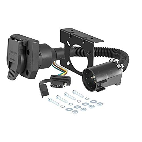 CURT 55774 Dual-Output Vehicle-Side 7-Pin, 4-Pin Connectors, Factory Tow Package and USCAR Socket Required