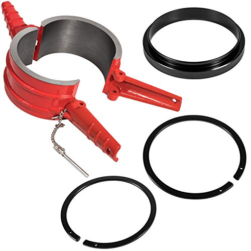 7040 Piston Ring Compressor Tool+Adapter+Anti-Polishing Ring For Cummins ISX/QSX, Caterpillar 3400, C-15 5.4' bore Alternative PT-7040 5299448 5299447 5299339 (4 PCS)