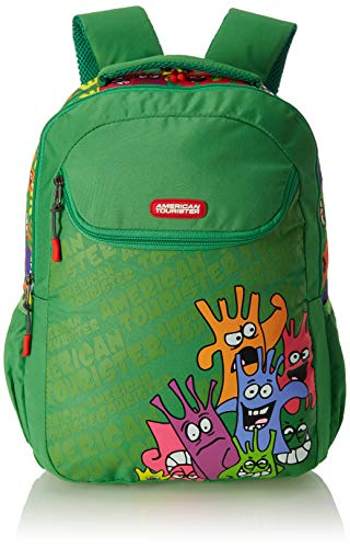 American Tourister Kiddle Polyester 32 cms Monster Green School Backpack (FO0 (0) 04 002)