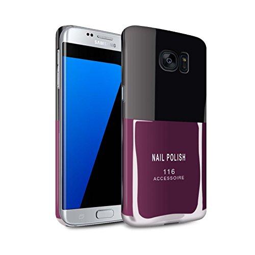 Telefoon Matte Case voor Samsung Galaxy S7 Edge/G935 Nagellak/Make Up Roze Ontwerp Matt Harde Snap On Cover
