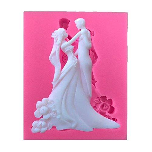 ODN Braut und Bräutigam Silikonform Wedding Kuchen Backen Werkzeuge 3D Fondant Deko