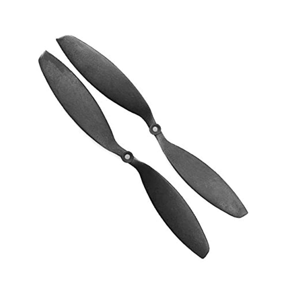 Genuine Gemfan 1347 (13x4.7) Propellers by RAYCorp. 2 Pieces(1CW, 1CCW) Black - Carbon Nylon 13-inch Quadcopters & Mutlirotors Props + RAYCorp Battery Strap