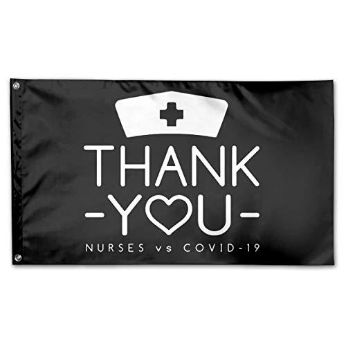 American Flag by U.S. Veterans Owned Thank You Nurses - Nurses Vs Corona-Virus Flag 3x5 Ft