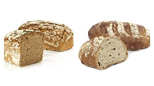 Vestakorn Handwerksbrot-Paar, Reines Roggen & Schwarzwälder - frisches Brot - Sauerteigbrot vom Handwerksbäcker zum selbst aufbacken in 10 Minuten