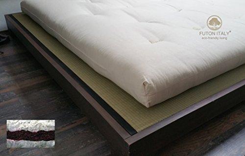 Futon Matelas en pur coton et Coco fait à la main en Italie mesures 80 x 200 cm