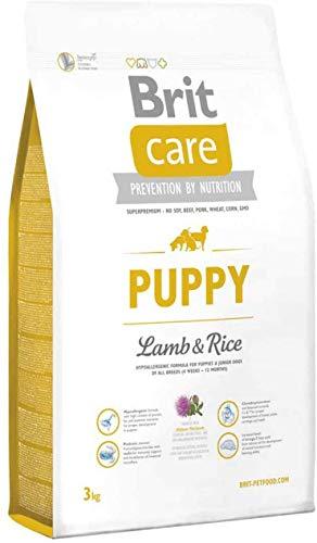 Brit Care Puppy Agnello e Riso 3 Kg - Ipoallergenico per cani cuccioli di tutte le taglie