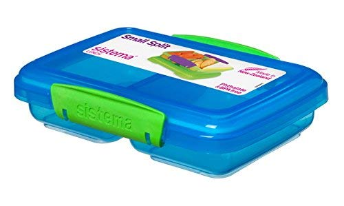 Sistema 350 ml Snackbox SMALL Split - Phthalate- und BPA-freie Mini-Lunchbox 41518 (blau)