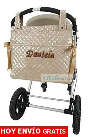 Color beige Bolso Maternal lactancia para capazo carrito bebe danielstore Mod Penelope