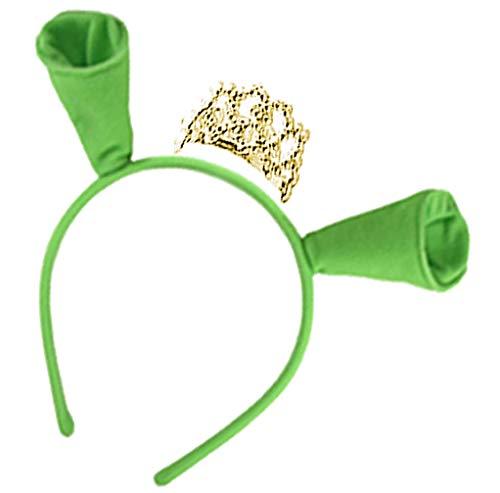 Sanctuarie Designs Women's Princess Fiona Shrek Plus Size Supersize Halloween Costume Dress (Basic Kit #4 Only, Ears & Crown Only (No Dress))
