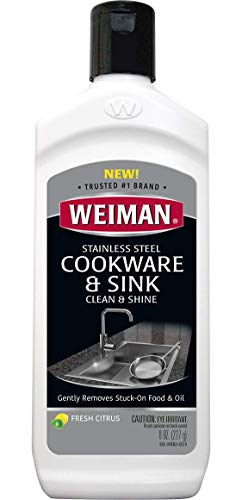 Weiman Stainless Steel Sink and Pots & Pans Cleaner and Polish