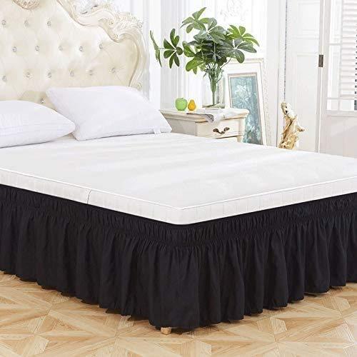 OOFAYWFD Caída de 15 Pulgadas Bedding Elástico Falda De Cama con Volantes - Extra Profundas Falda de Cama Envuelta, (Color : C, Size : 153X203CM)