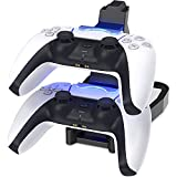 PS5 Controller Charger, Joso Dual USB Fast Charging Station, Type C Docking Station Dock Stand with LED Indicator Charge Lights for Sony Playstation 5 Controllers DualSense