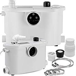KESSER® Hebeanlage Kleinhebeanlage ✓ Fäkalienpumpe ✓ mit integriertem Rückschlagventil ✓ 400 Watt ✓ WC Toiletten ✓ Dusche ✓ Badewannen ✓ Waschbecken ✓ Spülmaschinen Abwasser Haushaltspumpe Sanitär