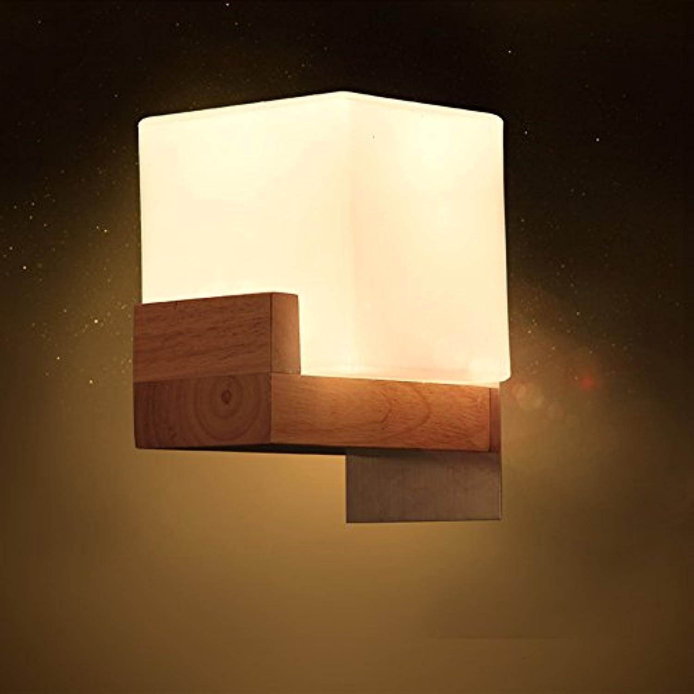 Einfache Wandleuchte Bedside Korridor Gang Kreative Massivholz Wand Lampe