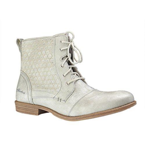 Mustang Damen Stiefelette Silber (Metallic), Schuhgröße:EUR 39