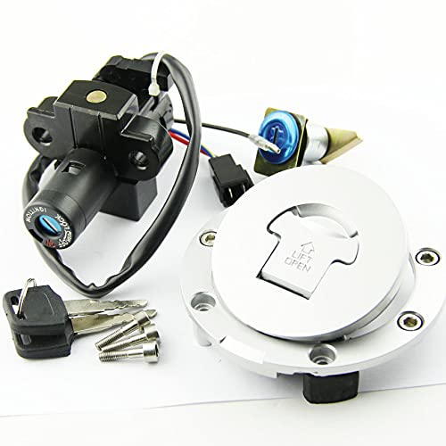 XIOSOIAHOU Motorcycle Key Cap de Combustible Kit Interruptor de Encendido Fit para Honda VFR400 NC30 RVF400 NC35 NSR250 CBR250 CBR400 CBR600 CBR900 35100-MR8-027