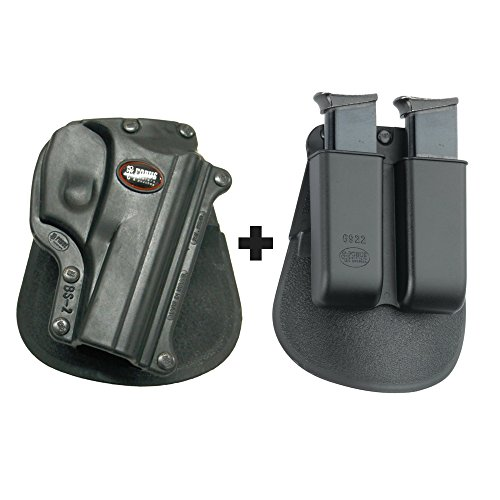 Fobus BS-2 Paddle Black Concealed Carry Holster Bersa Thunder 380 + 6922 Double Magazine Pouch