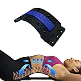 Back Stretcher for Upper & Lower body Pain Relief - Spine Cracking Aligner has Lumbar & Posture Support – Arch Corrector Home Decompression Stretching Device for Traction helps with Sciatica + Piriformis + Scoliosis + Herniated Disc