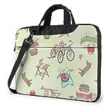 15.6″Durable Hombro Mensajero Bolsa maletín PC Silla de Bicicleta de Dibujos Animados Moda Impermeable Ordenador Portátil/portátil/Tablets