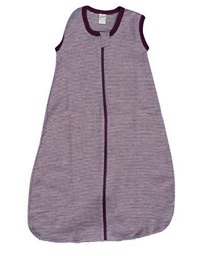 Lilano, Schlafsack Ringel ohne Arm, 70% Wolle (kbT), 30% Seide, 210 gr./m² (Beere/Natur, 3 (110 cm))