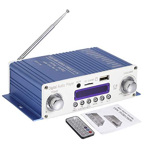 12V Mini motocicleta amplificador de audio para automóvil amplificador de alta potencia de sonido estéreo de alta fidelidad amplificación digital completa AUX RCA amplificador de sonido