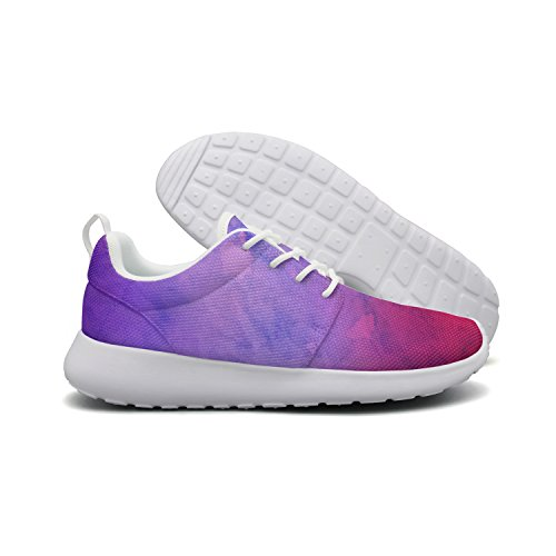 Abstract Creative Watercolor Texture Fashion Print Athletic Sneakers Breathable Mesh Shoes