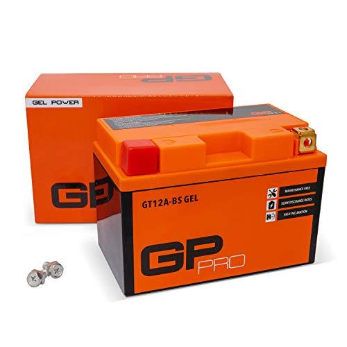 GP-PRO GT12A-BS 12V 10Ah GEL Batteria di avviamento (simile a YT12A-BS / YTX12A-BS) (Esente da manutenzione / Sigillato) Moto Accumulatore