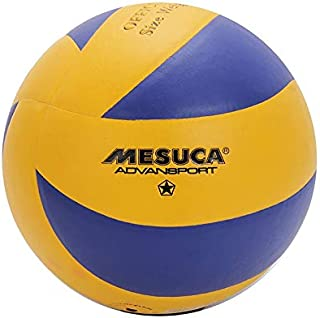 Joerex Mesuca Volleyball Ball Size 5 Durable By Hirmoz, Indoor & Outdoor Volleyball Training, BLUE/YELLOW, 2724606847446