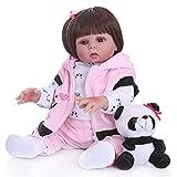 RONSHIN 48 CM NPK Boneca Reborn Baby Doll Juguetes con rizos Cabello Liso para Regalo de cumpleaños Infantil Baño de Juguete Pelo lacio
