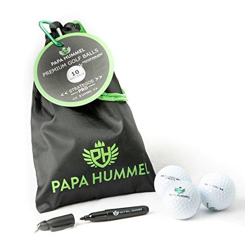 Papa Hummel STRATEGOS PRO - 3 Layer Turnier Golfbälle