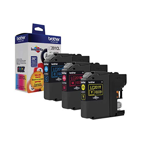 Brother Genuine Standard Yield Color Ink Cartridges, LC2013PKS, Replacement Color Ink Three Pack, Includes 1 Cartridge Each of Cyan, Magenta & Yellow, Page Yield Up To 260 Pages/cartridge,Magenta, Cyan, Yellow