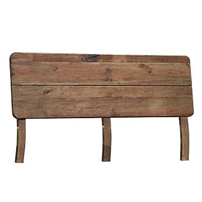 Cabecero de madera de un diseño elegante y sencillo que encaja a la perfección en dormitorios de estilo rústico. Medidas del cabecero Pixie: 160 cm (largo) x 90 cm (alto) x 17 cm (fondo). Elaborado con genuina madera de pino reciclada y tratada. Se e...