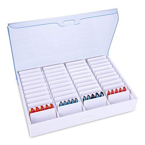 Vobor Nail Art Box Durable Material Lisse Pratique Perle Container Organisateur Boîte en Strass