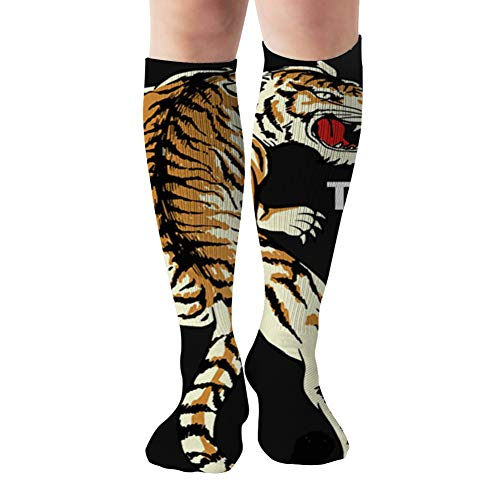 Japanese Style Tiger Tshirt The Arts Compression Socks For Women And Men - Best Medical,For Running, Athletic, Varicose Veins, Travel 19.68 Inch