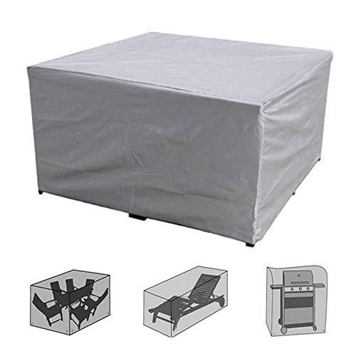 Apodis Cubierta de Muebles de Jardín Fundas de Muebles Impermeable Resistente al Polvo Protección Exterior Mesa y Silla, Plata 260×135×82cm