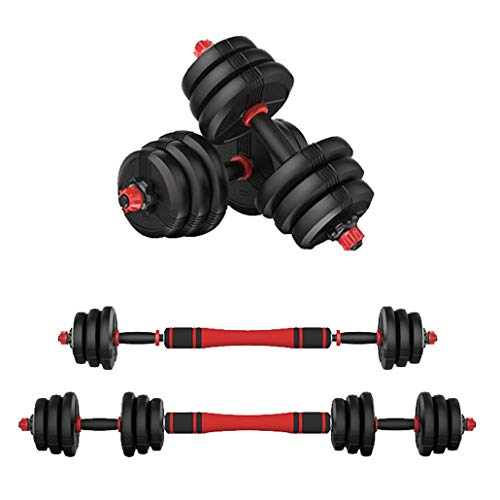 Adjustable Dumbbells Set Equipped with Barbell Connecting Rod Free Combination Weights Dumbbell for Home 2 Pieces/Set (10KG/22lbs)