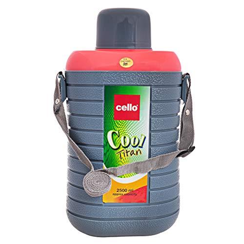 Cello Cool Titan Plastic Insulated Water Bottle (Grey , 2.5 L )