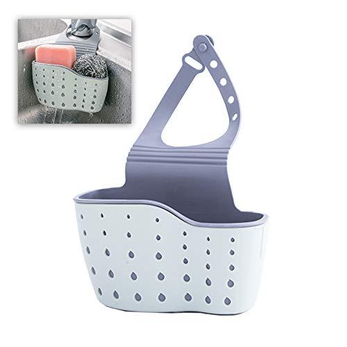 Schneespitze Kitchen Sink Estantería,Fregadero Soporte Cesta Sponge Holder Sink Plana Basket Cesta Colgante para El Almacenamiento,Otro Almacenamiento