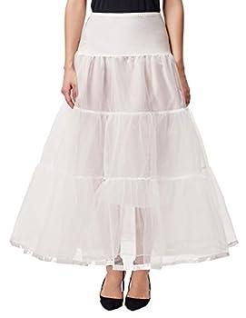 Plus Size Kids Girls Petticoat Long Crinoline Skirt Full Slip Flower Dress White Underskirt 2X,Ivory