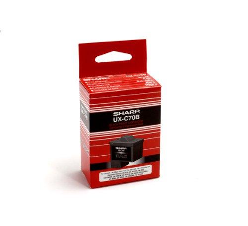 Sharp UXC70B Cartucho Inyección de Tinta, Negro