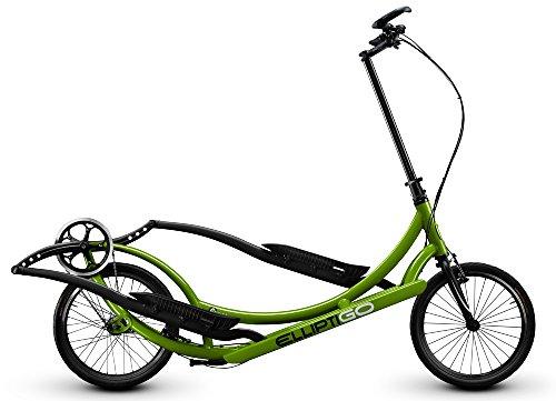 ElliptiGO 8C Long Stride Outdoor Elliptical Bike and Best Hybrid Indoor Exercise Trainer, Green