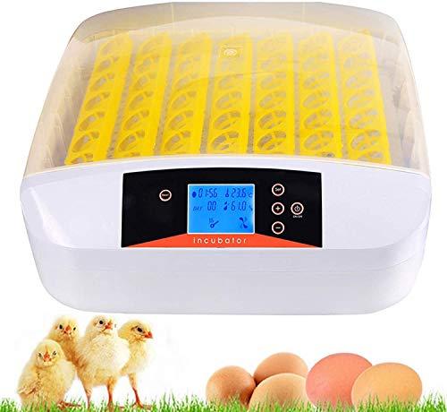 Hesyovy 55 Eier Inkubatoren für Geflügeleier Intelligentes digitales Brutmaschine Brutkasten mit LED Temperaturanzeige und Feuchtigkeitsregulierung,Inkubator Vollautomatische Brutmaschine (Weiß)