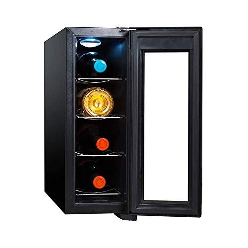 LKNJLL 4 Bouteilles Cave à vin Cooler 11-18 □ température Zone Boisson Boissons Réfrigérateur Porte en Verre Fits Chambre Bureau Cuisine Salle à Manger