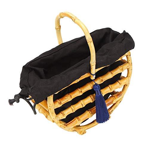 Totalizador de bambú, bolso de bambú elegante, portátil exquisito hecho a mano de las mujeres para la escapada del viaje